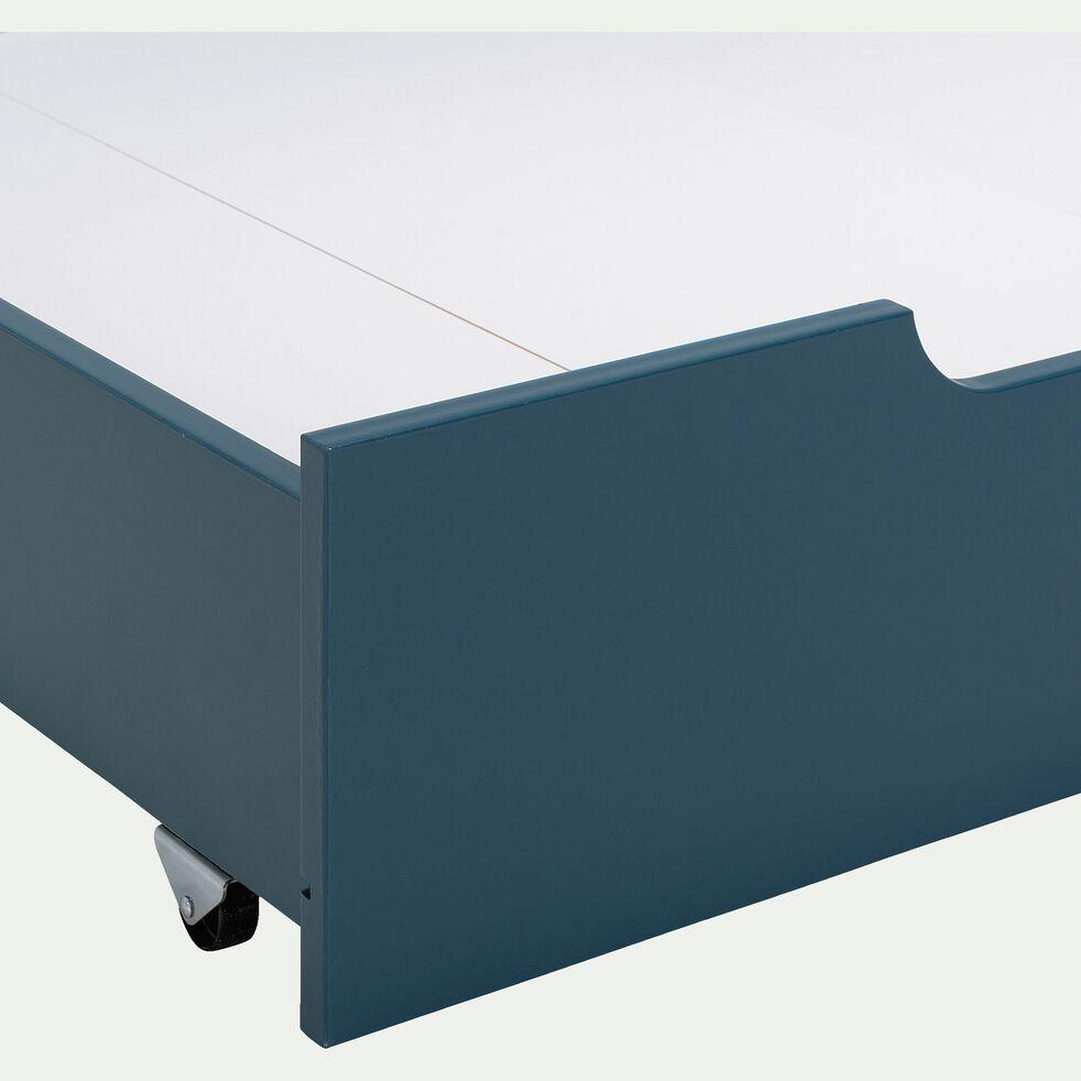 Tiroir sous lit en bois - bleu figuerolles-POLLUX