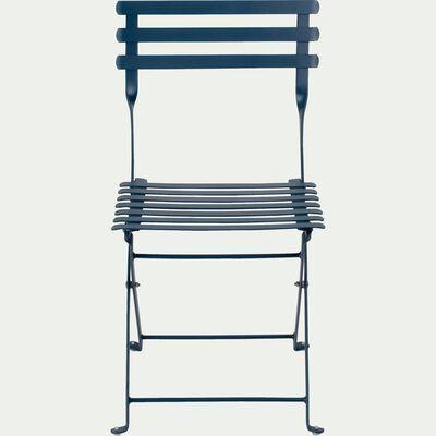 Chaise de jardin enfant - bleu figuerolles-CERVIONE