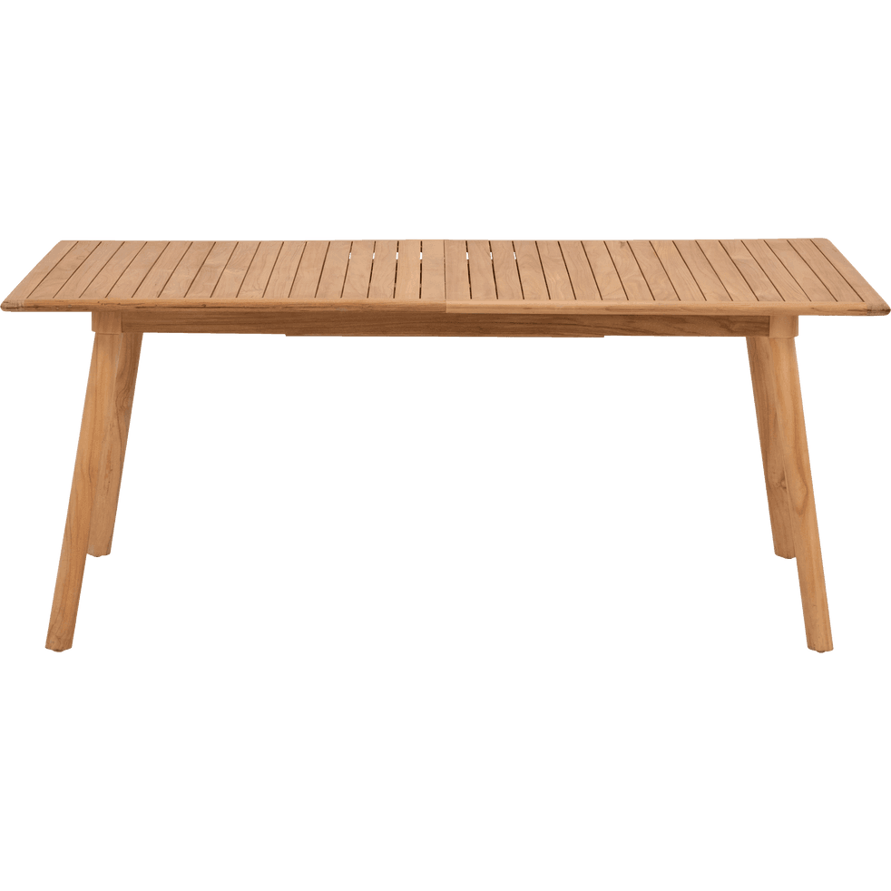 Table de jardin extensible en Teck massif FSC (6 à 10 places) - DUNE ...