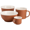 Tasse en porcelaine orange 9cl-CAFI