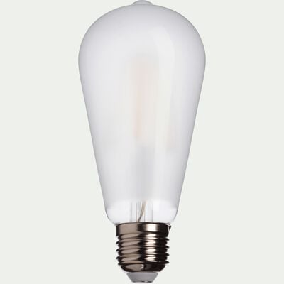 Ampoule LED dépoli H14,5cm culot E27-POIRE