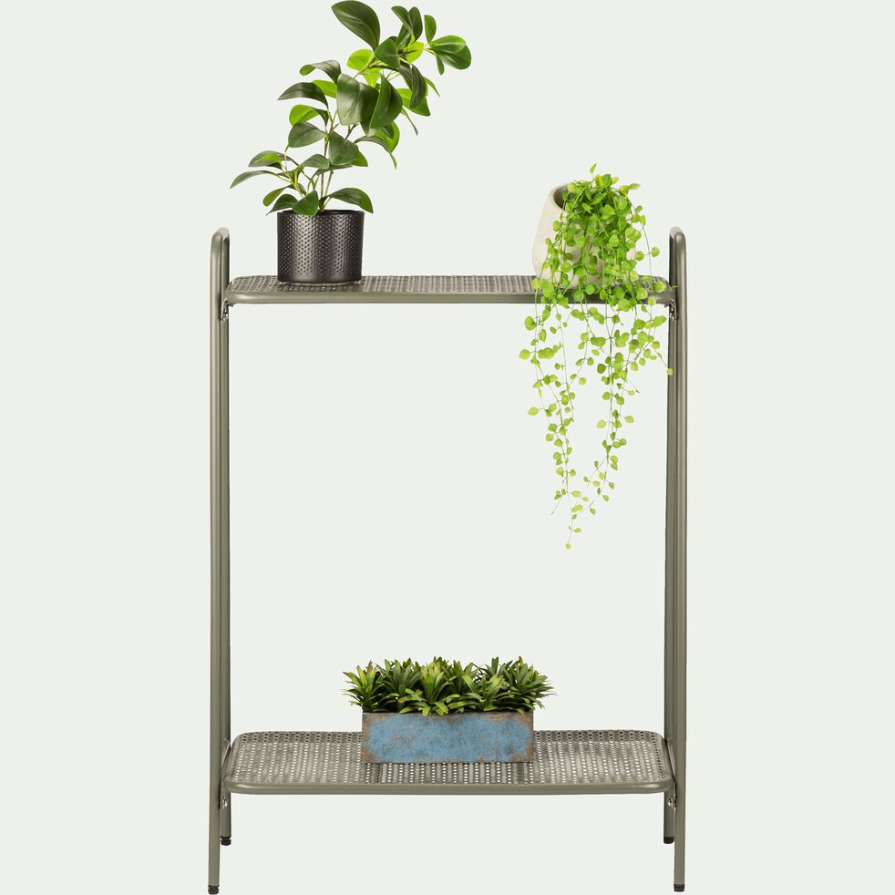 Support plante en acier vert cèdre L61xH88x34cm-ERBA