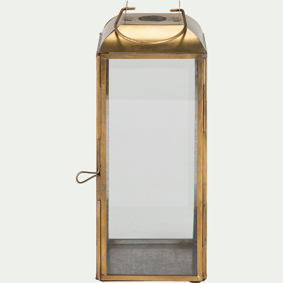 Lanterne en fer et verre - cuivré H23cm-ALSISAR