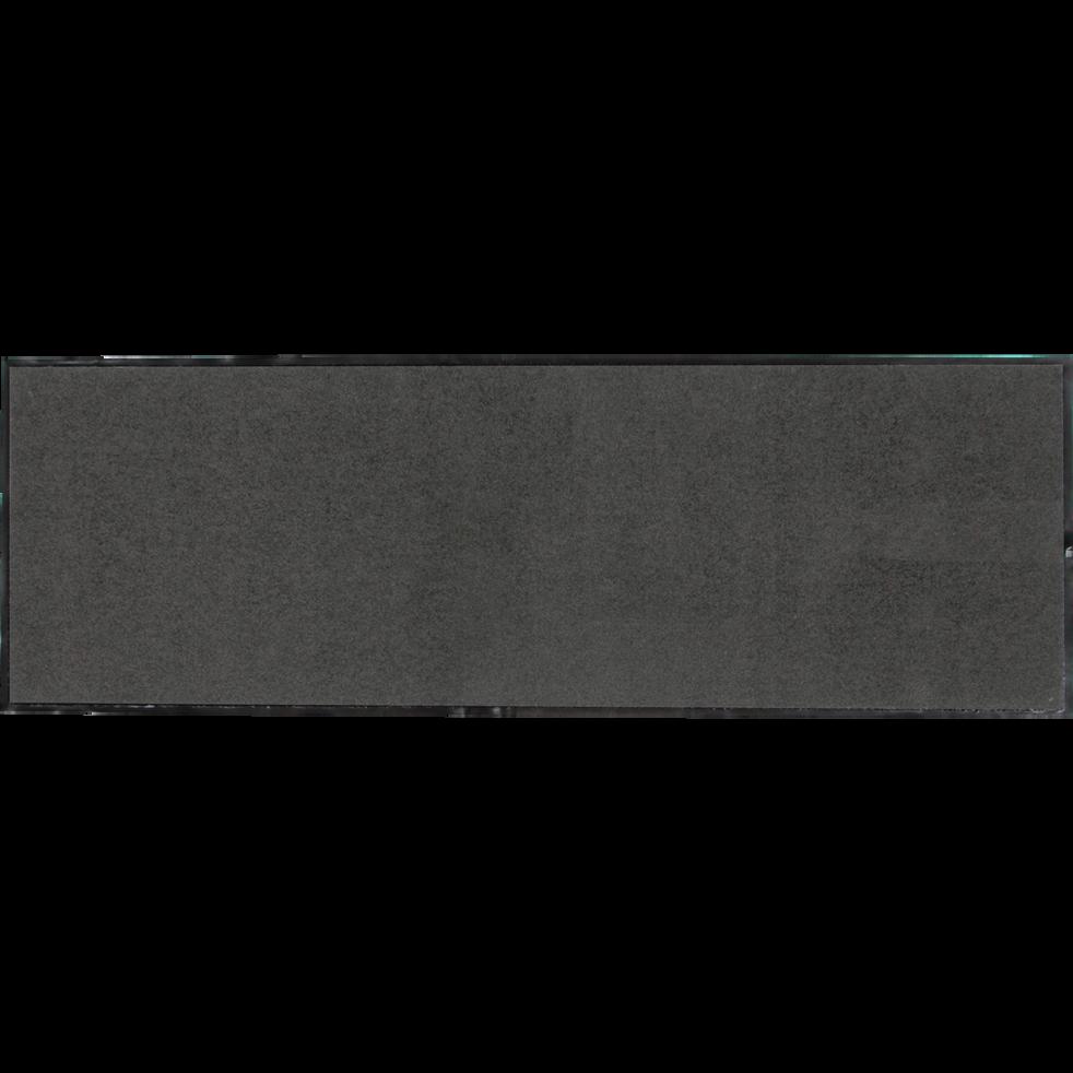Tapis de couloir paillasson gris foncé 60x180 cm-BEN