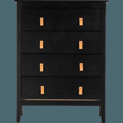 Commode 4 tiroirs noire-LISON