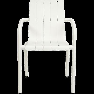 Chaise de jardin empilable en aluminium blanc-CENOZA