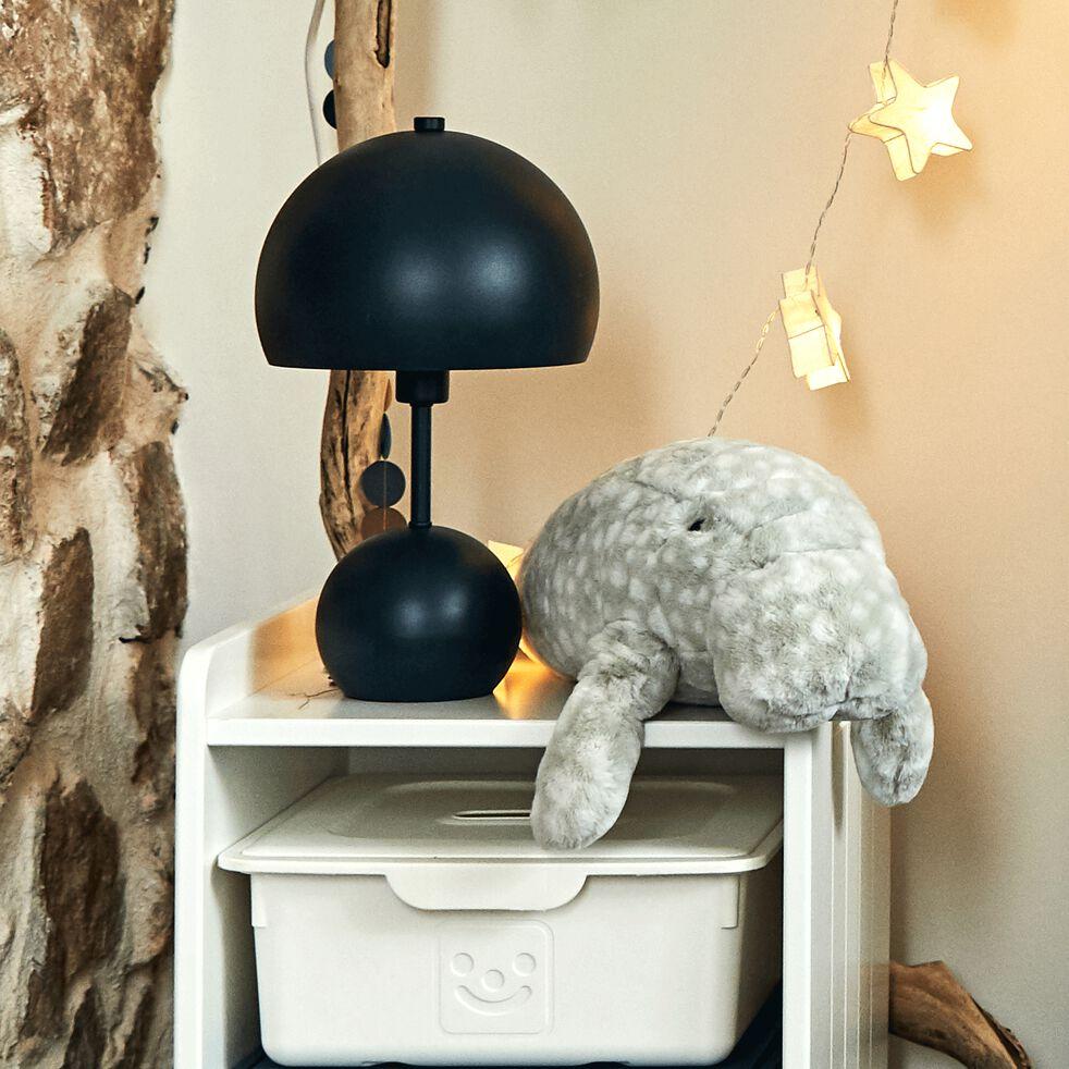 Lampe à poser forme champignon - bleu marine h34,50cm-Bali
