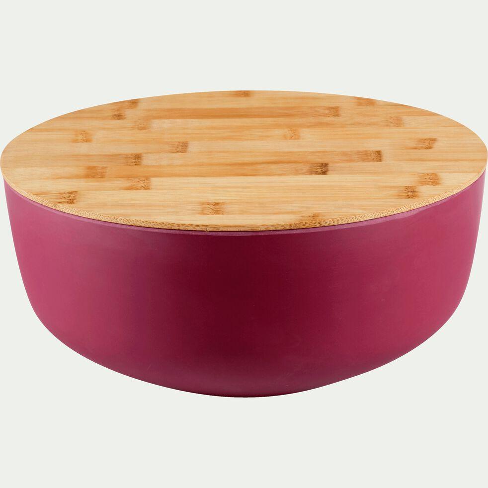 Saladier en fibre de bambou rouge D25,5cm-TREZ