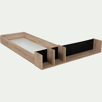 Tiroir et niche pour lit Castel 120x200cm - effet chêne clair-CASTEL