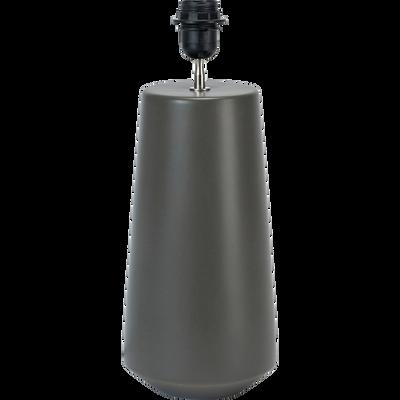 Pied de lampe en céramique vert cèdre H46cm-FATIMA