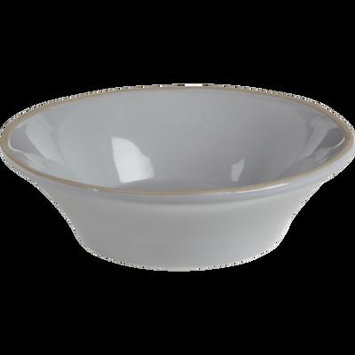 Assiette creuse en faïence grise D16.5cm-LUBERON