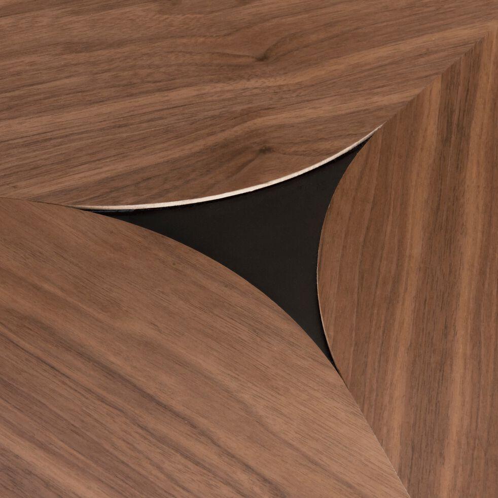 Table basse triangulaire plaquée noyer-ARLETE