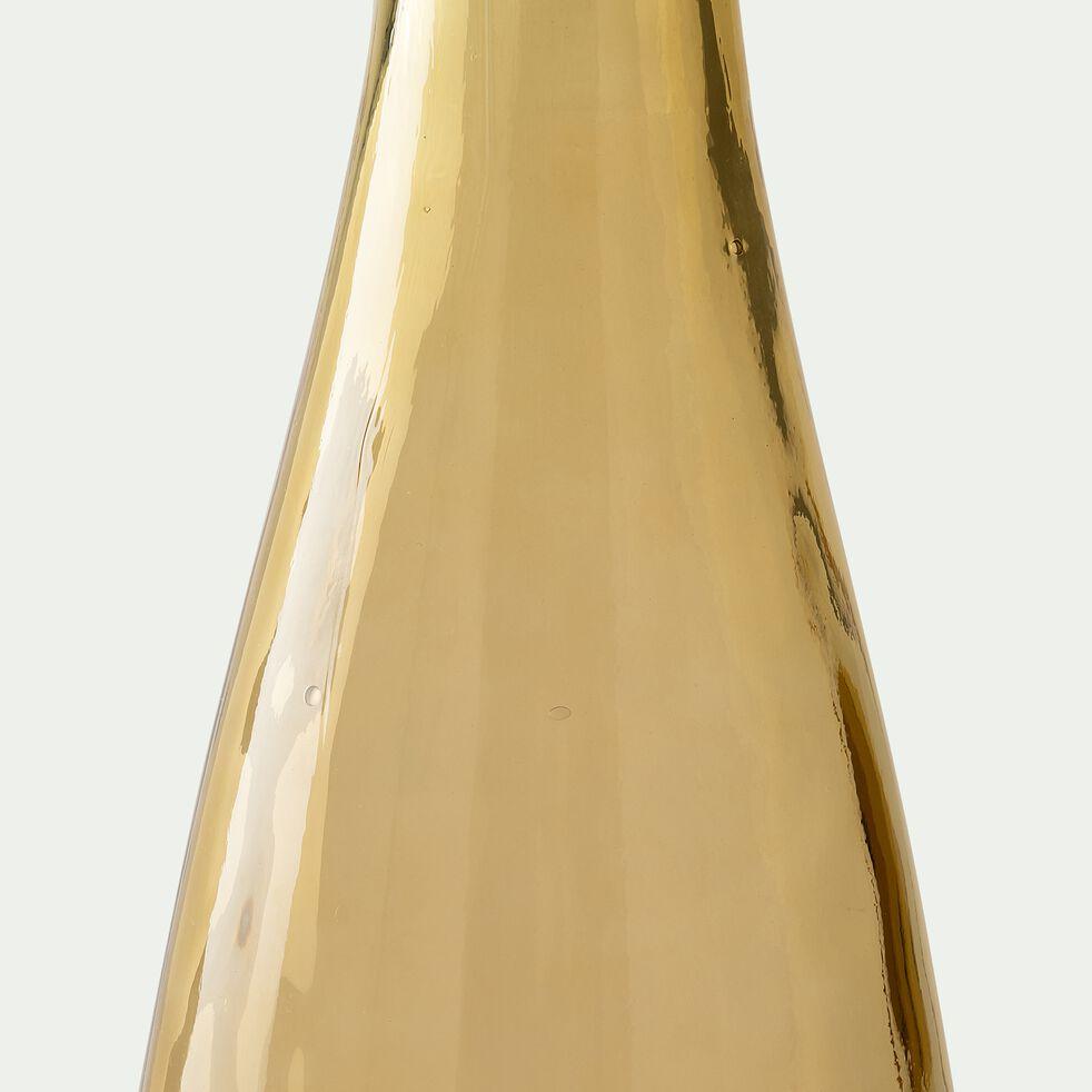 Vase en verre recyclé - jaune ocre H100cm-AJJA