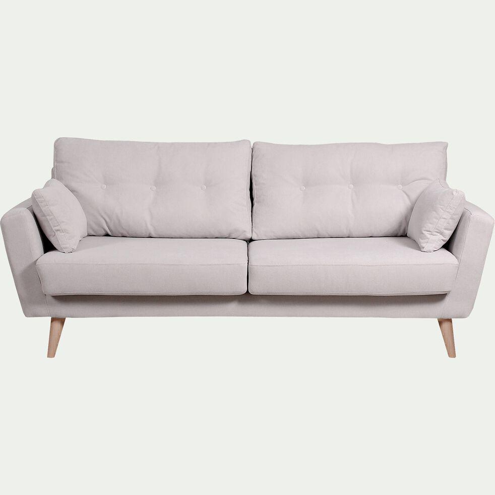 Canapé 3 places fixe en tissu - nougat-ICONE