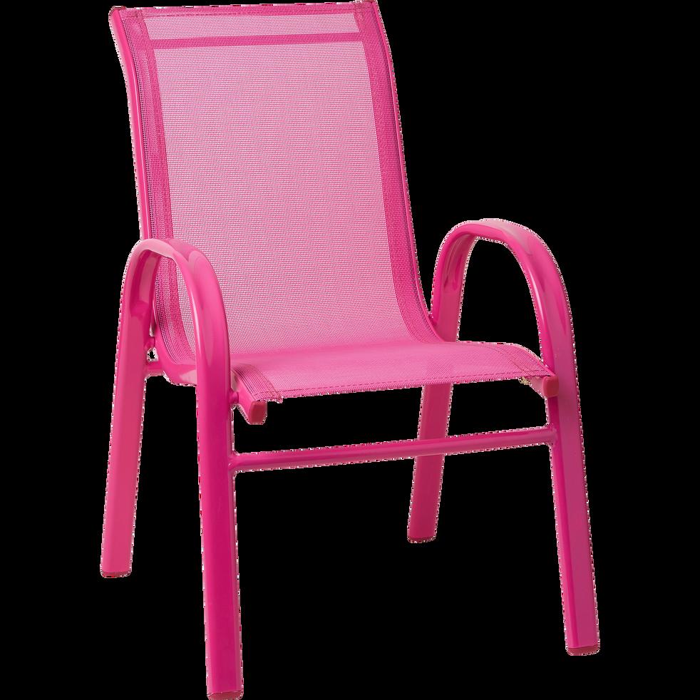 Fauteuil d'extérieur rose pour enfant-COTIA
