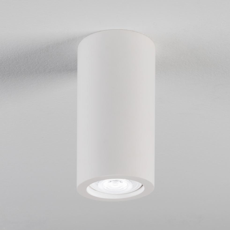 Spot en plâtre blanc D7xH14cm-GIPSY