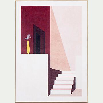 Image encadrée escalier 50x70cm - rose-PEISSAR