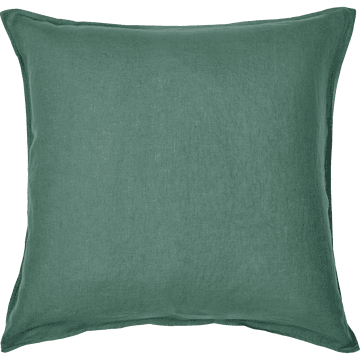 Taie d'oreiller lin lavé 65x65 cm vert cedre-VENCE
