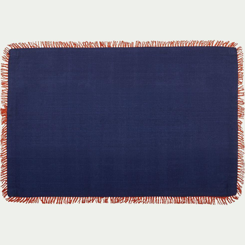 Sets de table en coton bleu 30x45cm-CADI