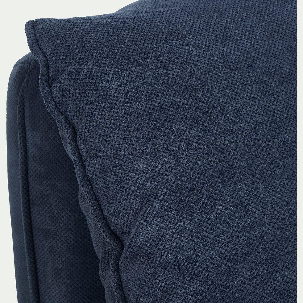 Fauteuil déplimousse 1 place en tissu - bleu-PEDRO
