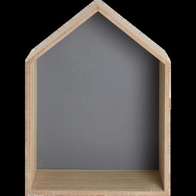 Étagère forme maison fond gris-DOLCE