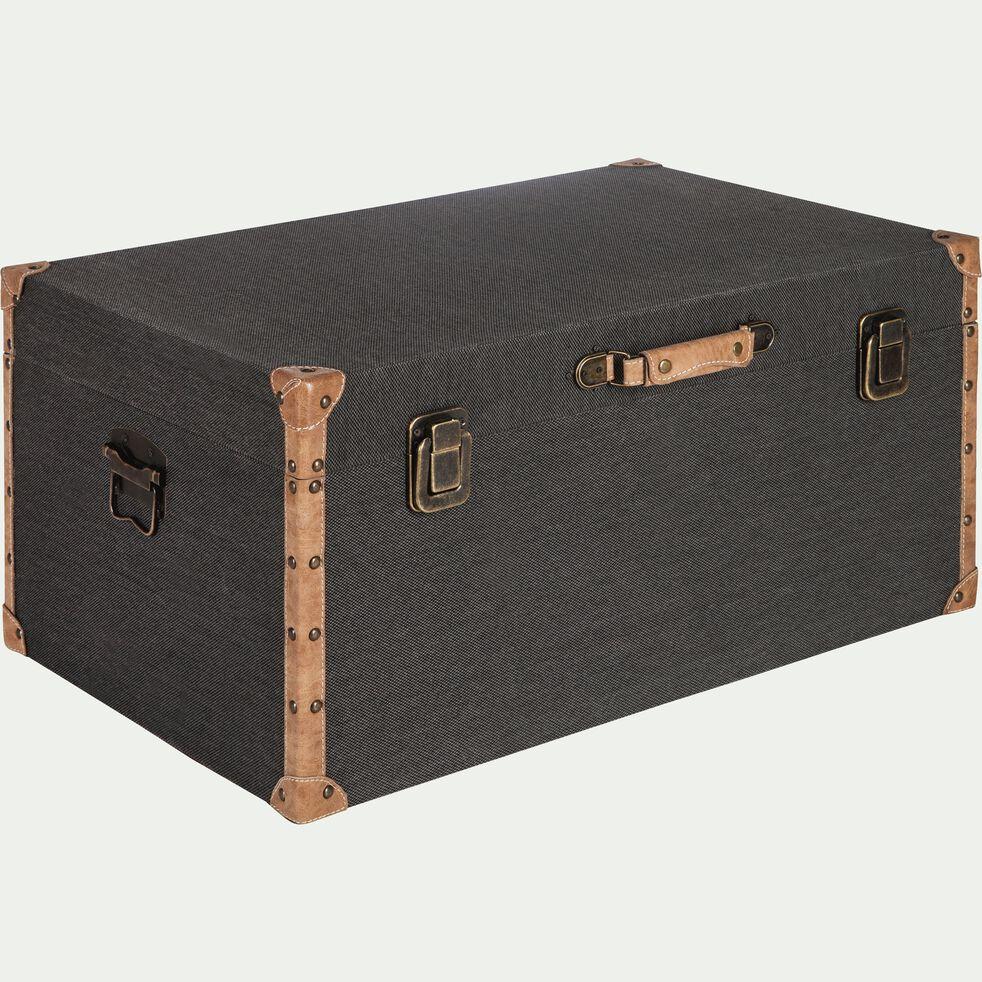 Malle de rangement en tissu - noir H35xL70cm-CARLONE