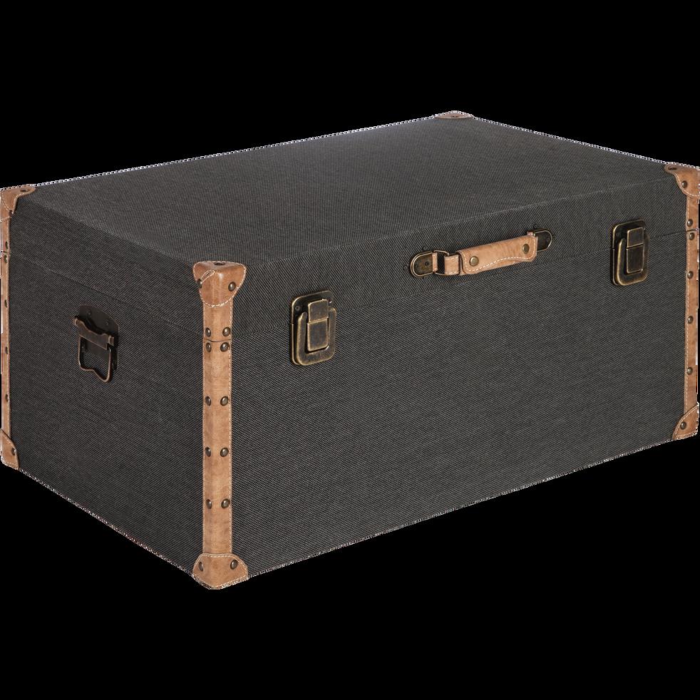 Malle de rangement noire L70xl46cm-CARLONE