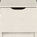 Table de chevet finition cerisier blanchi 1 porte-BROOKLYN