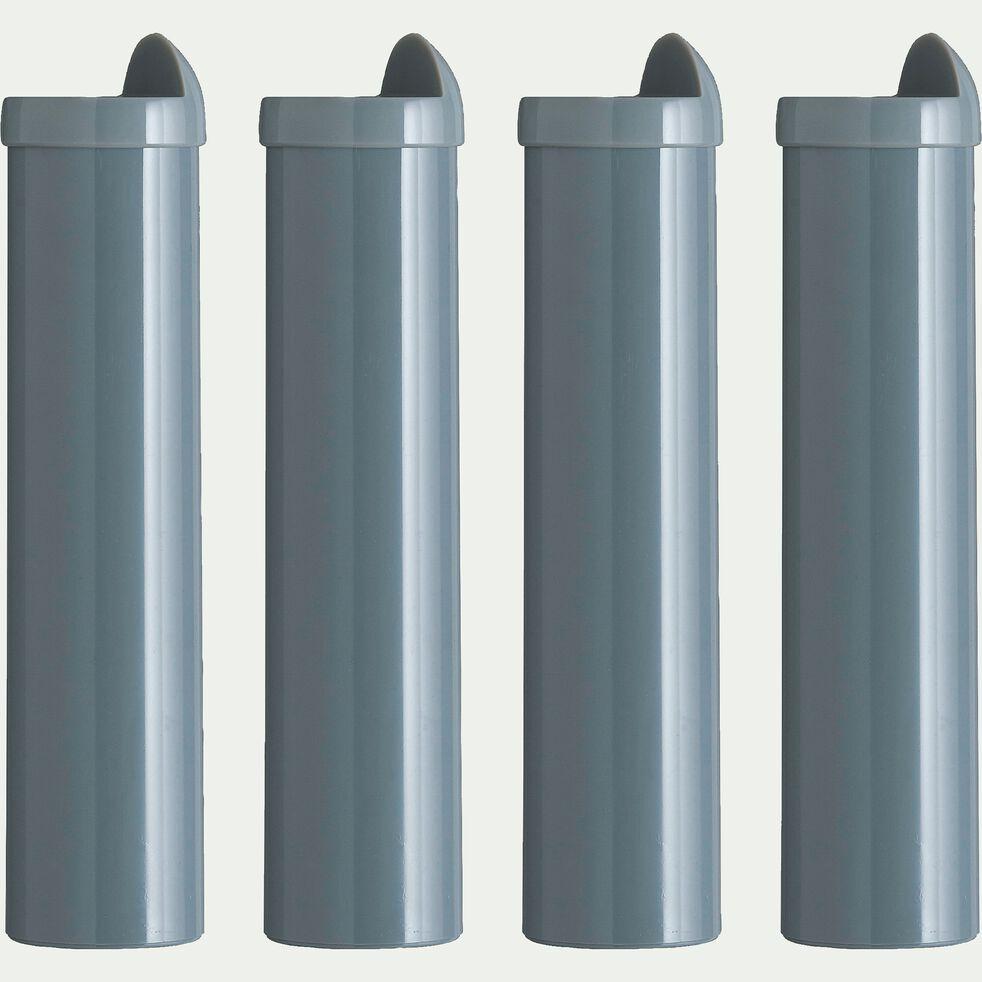 Pieds de sommier cadre à lattes gris H22 cm - jeu de 4-Basik