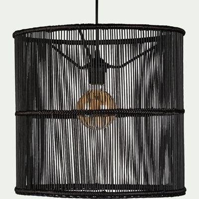 Suspension cylindrique en bambou - noir D39xH37cm-FIGANIERES