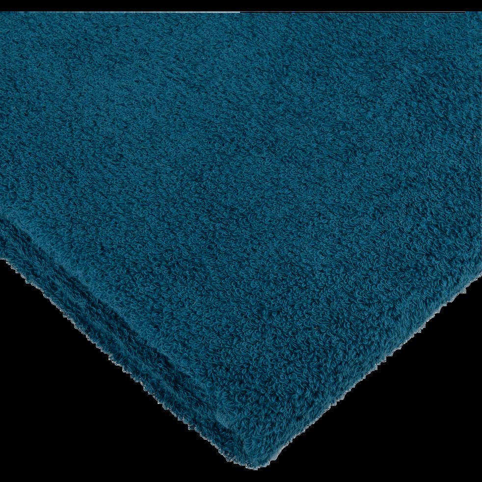 Drap de douche 70x140 cm Bleu figuerolles-ZELLIA