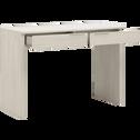 Bureau cerisier blanchi 2 tiroirs-BROOKLYN
