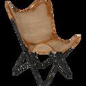 Housse de fauteuil butterfly en toile de jute beige-BUTTERFLY