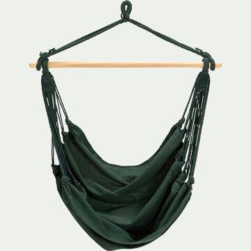 Fauteuil suspendu en coton - vert cèdre (1 personne)-PIANA