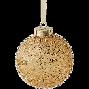 Boule de Noël doré D8cm-BAUBLE