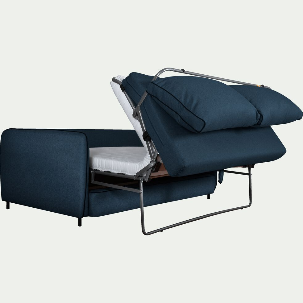 Canapé 3 places convertible en tissu bleu figuerolles-SAOU