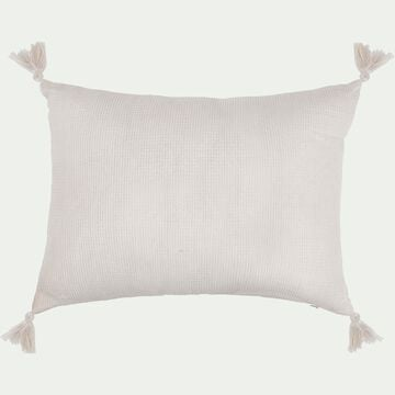 Coussin rectangle en coton 30x40cm - blanc-Songe