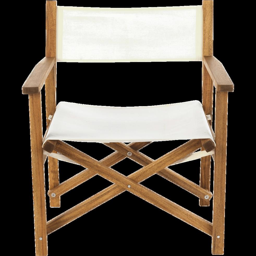 fauteuil de jardin r gisseur pliant en acacia gu rande. Black Bedroom Furniture Sets. Home Design Ideas