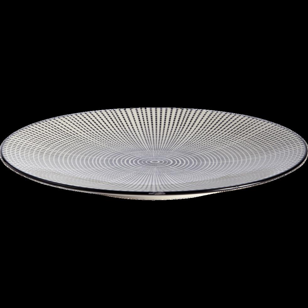Assiette plate en grès D27.5cm-MANDALA