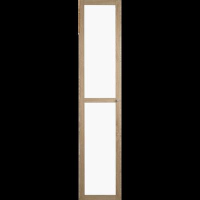 Grande porte vitrée coloris chêne clair-BIALA