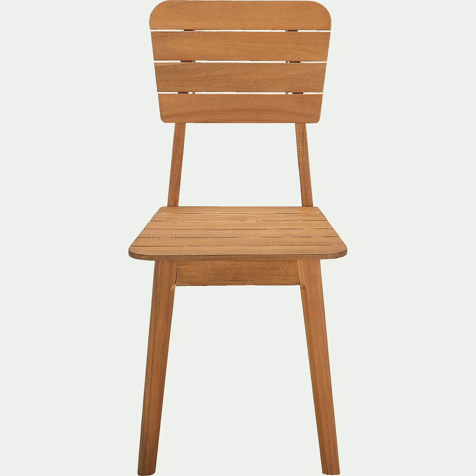 Chaise de jardin en acacia - naturel-AZTEK