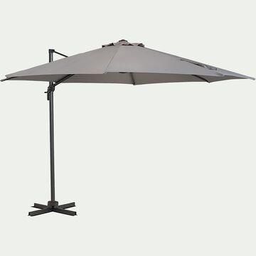 Parasol déporté D3,5m - gris vésuve-IMPERIA