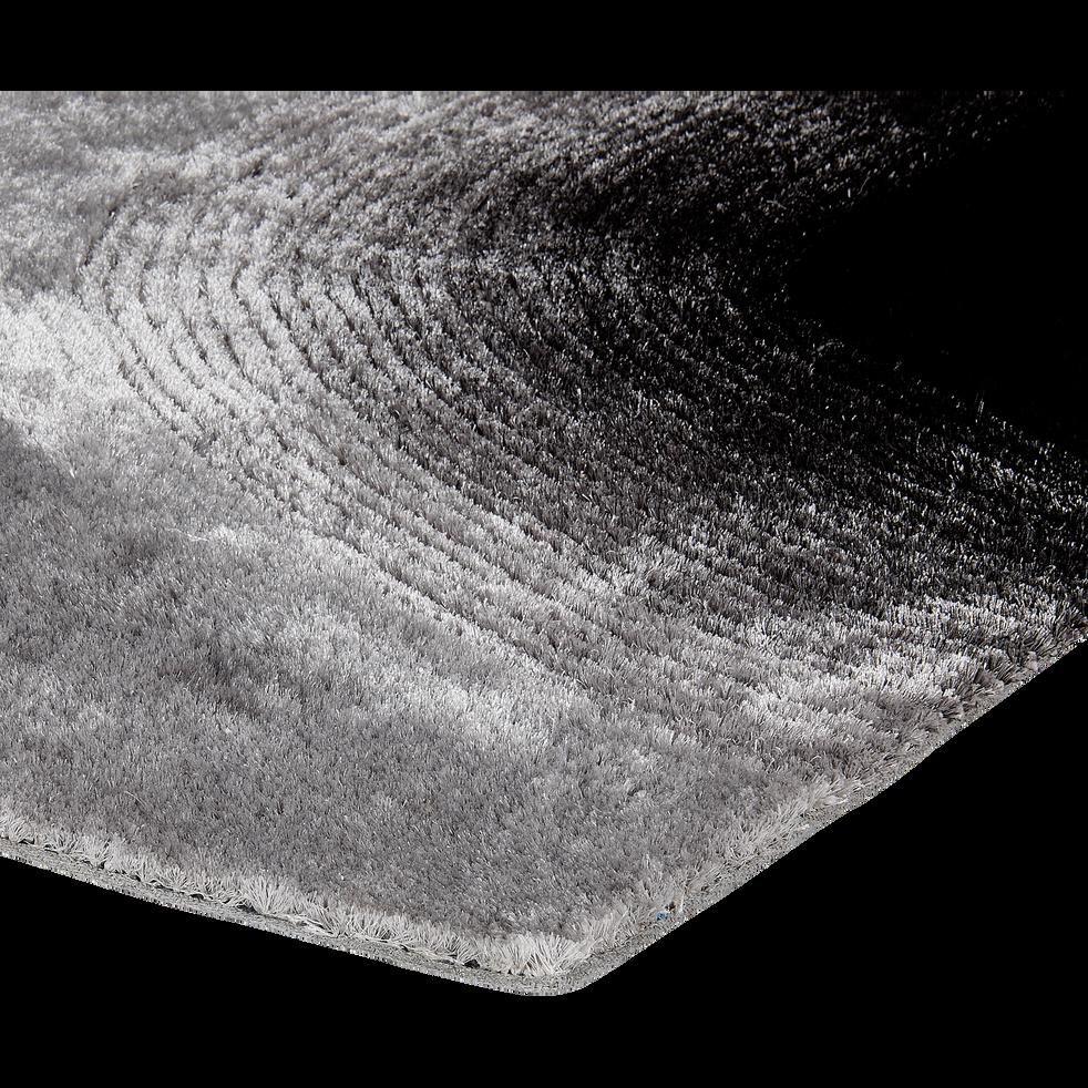 Tapis 120x170cm noir et gris-NATHAN