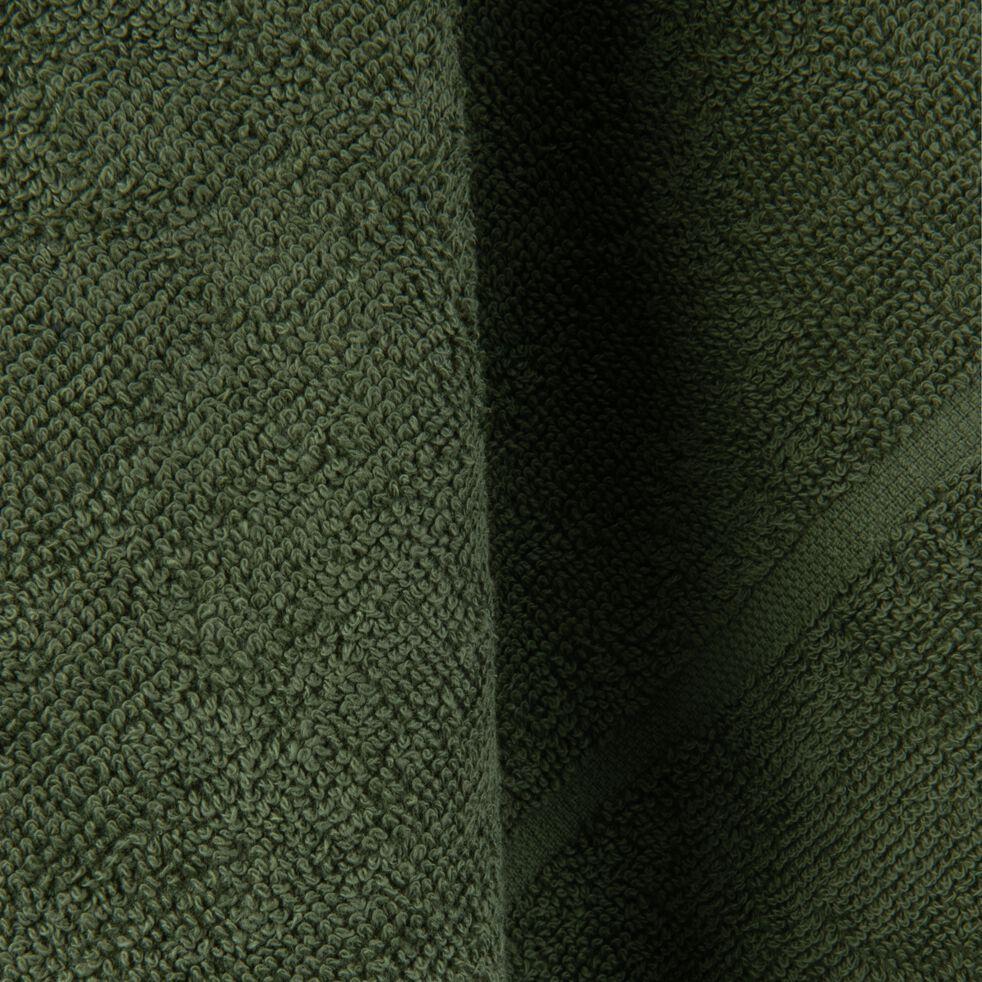 Carré éponge 50x50cm en coton vert cèdre-PANISSE