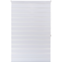 Store enrouleur tamisant blanc 102x190cm-JOUR-NUIT