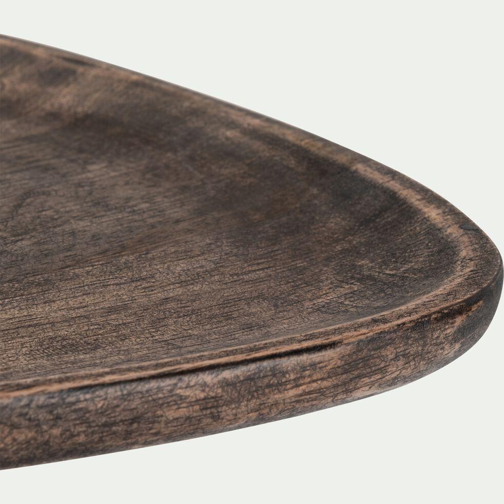 Plateau de présentation en bois de manguier - marron 20X20cm-BOSCU