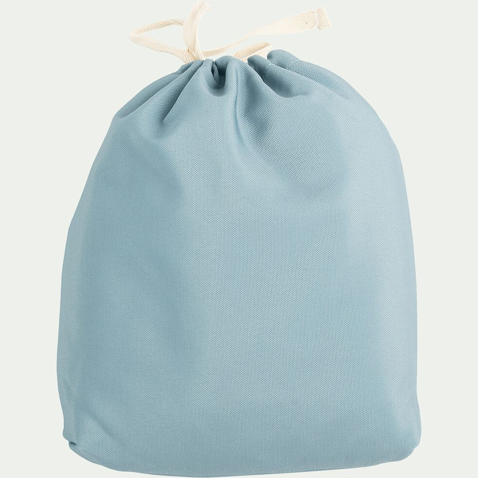 Pouf de jardin en tissu - bleu calaluna D53cm-Caprice