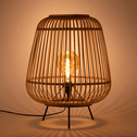 Lampe à poser en bambou naturel D29xH37cm-NIMES