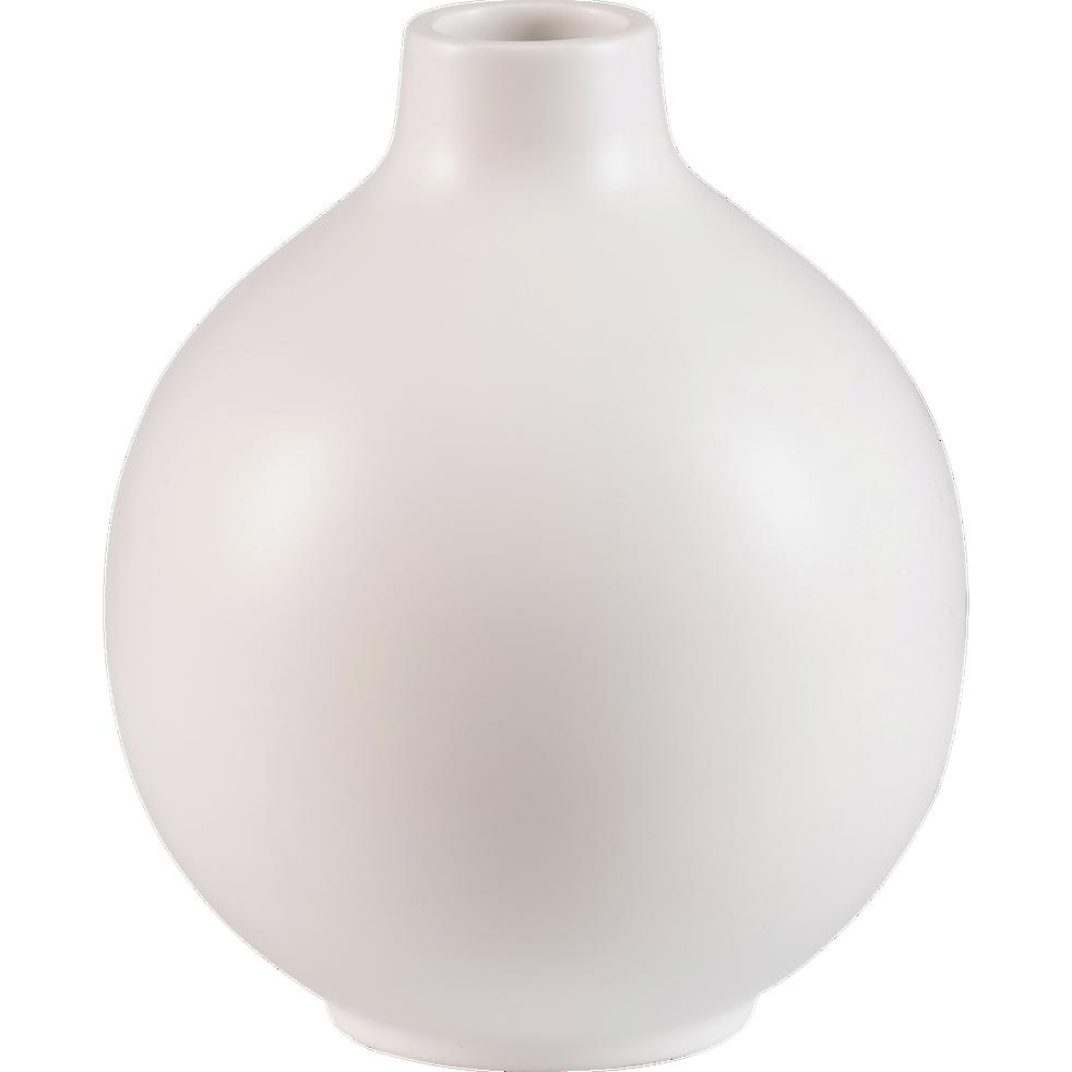 Vase en c ramique blanc d18xh23cm hydrie catalogue storefront alin a alinea - Decoration de grand vase transparent ...