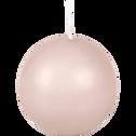 Bougie boule rose sable-HALBA
